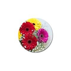 Flowers Gerbera Floral Spring Golf Ball Marker (4 Pack) by Nexatart
