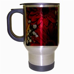 Flowers Gerbera Floral Spring Travel Mug (silver Gray) by Nexatart