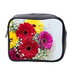Flowers Gerbera Floral Spring Mini Toiletries Bag 2 Side by Nexatart