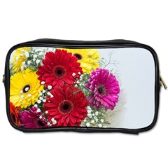 Flowers Gerbera Floral Spring Toiletries Bags