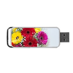 Flowers Gerbera Floral Spring Portable Usb Flash (one Side) by Nexatart