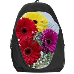 Flowers Gerbera Floral Spring Backpack Bag by Nexatart