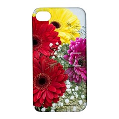 Flowers Gerbera Floral Spring Apple Iphone 4/4s Hardshell Case With Stand