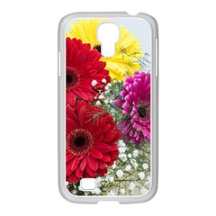 Flowers Gerbera Floral Spring Samsung Galaxy S4 I9500/ I9505 Case (white) by Nexatart
