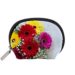 Flowers Gerbera Floral Spring Accessory Pouches (small)