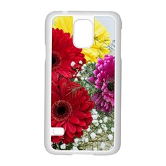 Flowers Gerbera Floral Spring Samsung Galaxy S5 Case (white) by Nexatart