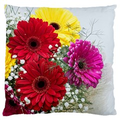 Flowers Gerbera Floral Spring Standard Flano Cushion Case (two Sides) by Nexatart