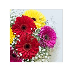 Flowers Gerbera Floral Spring Small Satin Scarf (square)