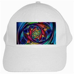 Eye Of The Rainbow White Cap by WolfepawFractals