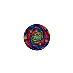 Eye Of The Rainbow 1  Mini Magnets by WolfepawFractals