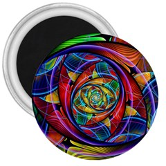 Eye Of The Rainbow 3  Magnets by WolfepawFractals