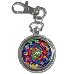 Eye Of The Rainbow Key Chain Watches by WolfepawFractals