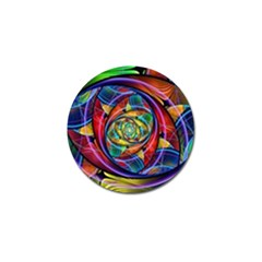 Eye Of The Rainbow Golf Ball Marker (4 Pack) by WolfepawFractals