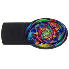 Eye Of The Rainbow Usb Flash Drive Oval (4 Gb) by WolfepawFractals