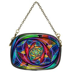 Eye Of The Rainbow Chain Purses (two Sides)  by WolfepawFractals