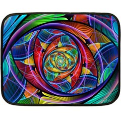 Eye Of The Rainbow Fleece Blanket (mini) by WolfepawFractals