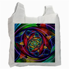 Eye Of The Rainbow Recycle Bag (two Side)  by WolfepawFractals
