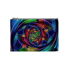 Eye Of The Rainbow Cosmetic Bag (medium)  by WolfepawFractals