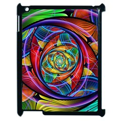 Eye Of The Rainbow Apple Ipad 2 Case (black) by WolfepawFractals