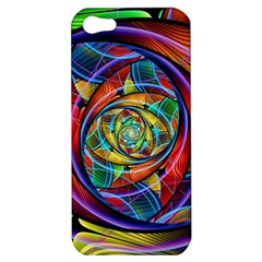 Eye Of The Rainbow Apple Iphone 5 Hardshell Case by WolfepawFractals
