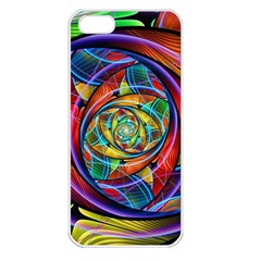 Eye Of The Rainbow Apple Iphone 5 Seamless Case (white) by WolfepawFractals