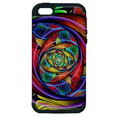 Eye Of The Rainbow Apple Iphone 5 Hardshell Case (pc+silicone) by WolfepawFractals