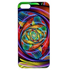 Eye Of The Rainbow Apple Iphone 5 Hardshell Case With Stand by WolfepawFractals