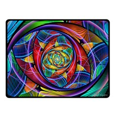 Eye Of The Rainbow Double Sided Fleece Blanket (small)  by WolfepawFractals