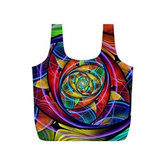 Eye Of The Rainbow Full Print Recycle Bags (s)  by WolfepawFractals