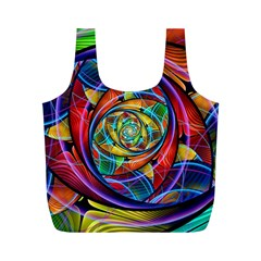 Eye Of The Rainbow Full Print Recycle Bags (m)  by WolfepawFractals