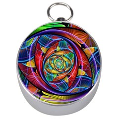 Eye of the Rainbow Silver Compasses