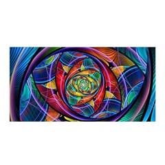 Eye Of The Rainbow Satin Wrap by WolfepawFractals