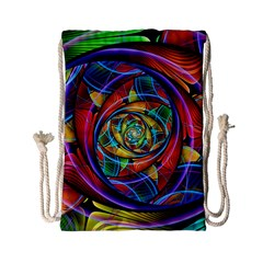 Eye Of The Rainbow Drawstring Bag (small) by WolfepawFractals