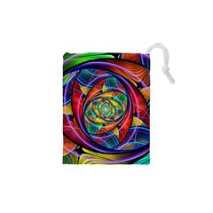 Eye Of The Rainbow Drawstring Pouches (xs)  by WolfepawFractals