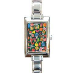 Presents Gifts Background Colorful Rectangle Italian Charm Watch