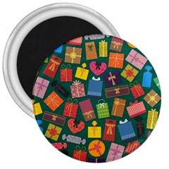 Presents Gifts Background Colorful 3  Magnets by Nexatart