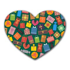 Presents Gifts Background Colorful Heart Mousepads