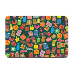 Presents Gifts Background Colorful Small Doormat  by Nexatart