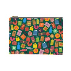 Presents Gifts Background Colorful Cosmetic Bag (large)  by Nexatart
