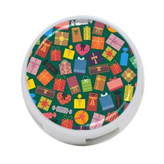 Presents Gifts Background Colorful 4 Port Usb Hub (one Side)
