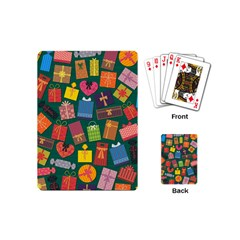 Presents Gifts Background Colorful Playing Cards (mini)