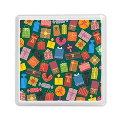Presents Gifts Background Colorful Memory Card Reader (square)  by Nexatart