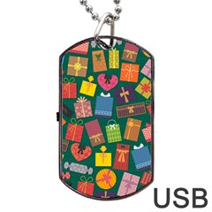 Presents Gifts Background Colorful Dog Tag Usb Flash (one Side) by Nexatart