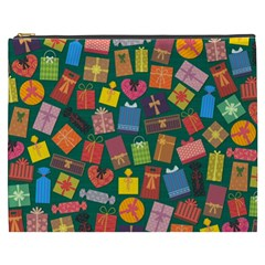 Presents Gifts Background Colorful Cosmetic Bag (xxxl)  by Nexatart