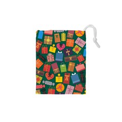 Presents Gifts Background Colorful Drawstring Pouches (xs)