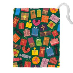 Presents Gifts Background Colorful Drawstring Pouches (xxl) by Nexatart