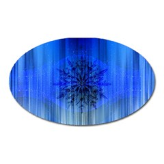 Background Christmas Star Oval Magnet by Nexatart