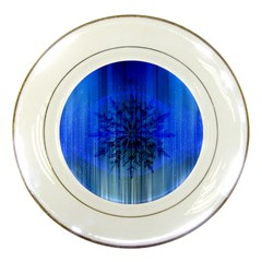 Background Christmas Star Porcelain Plates by Nexatart