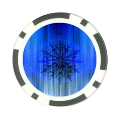 Background Christmas Star Poker Chip Card Guard by Nexatart