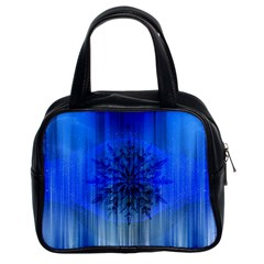 Background Christmas Star Classic Handbags (2 Sides)